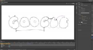 Animate interface with my Google Doodle roughs