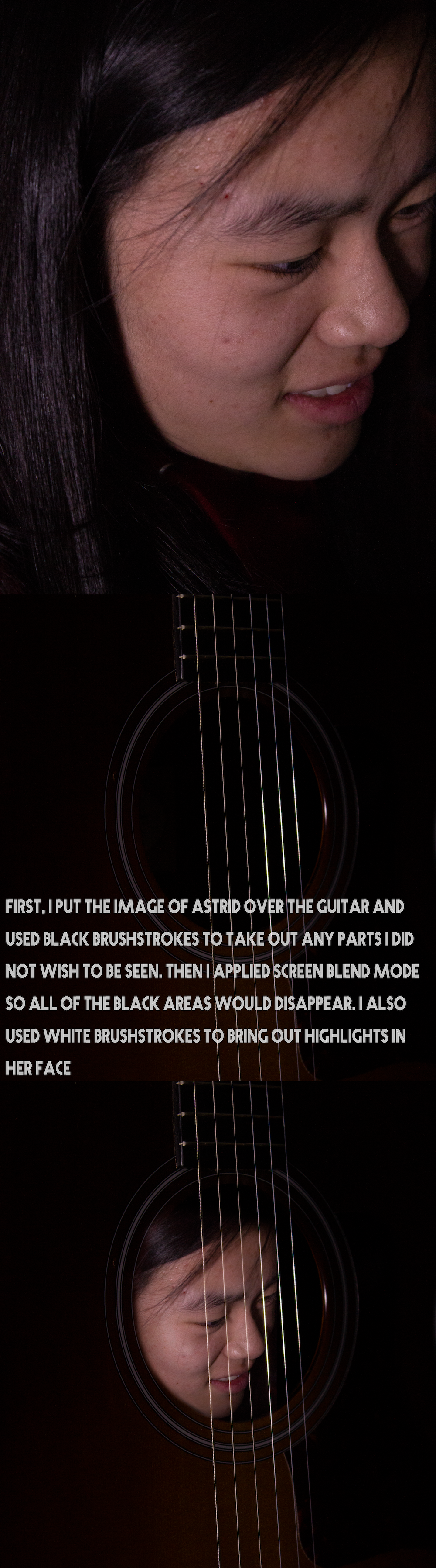 Photo Transformation: Face in Guitar Like That One The Office Meme