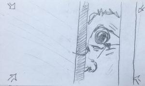 Storyboarding, the bathroom scene