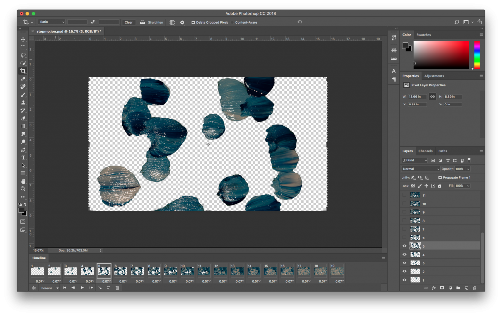 Photoshop; creating a paint stop motion animation