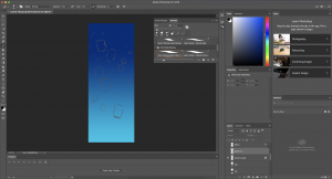 photoshop workspace with rough drawing