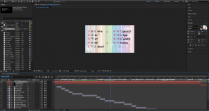 After effects file with multiple layers