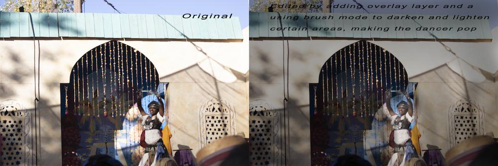Blending using Overlay Brush Photo Photoshop