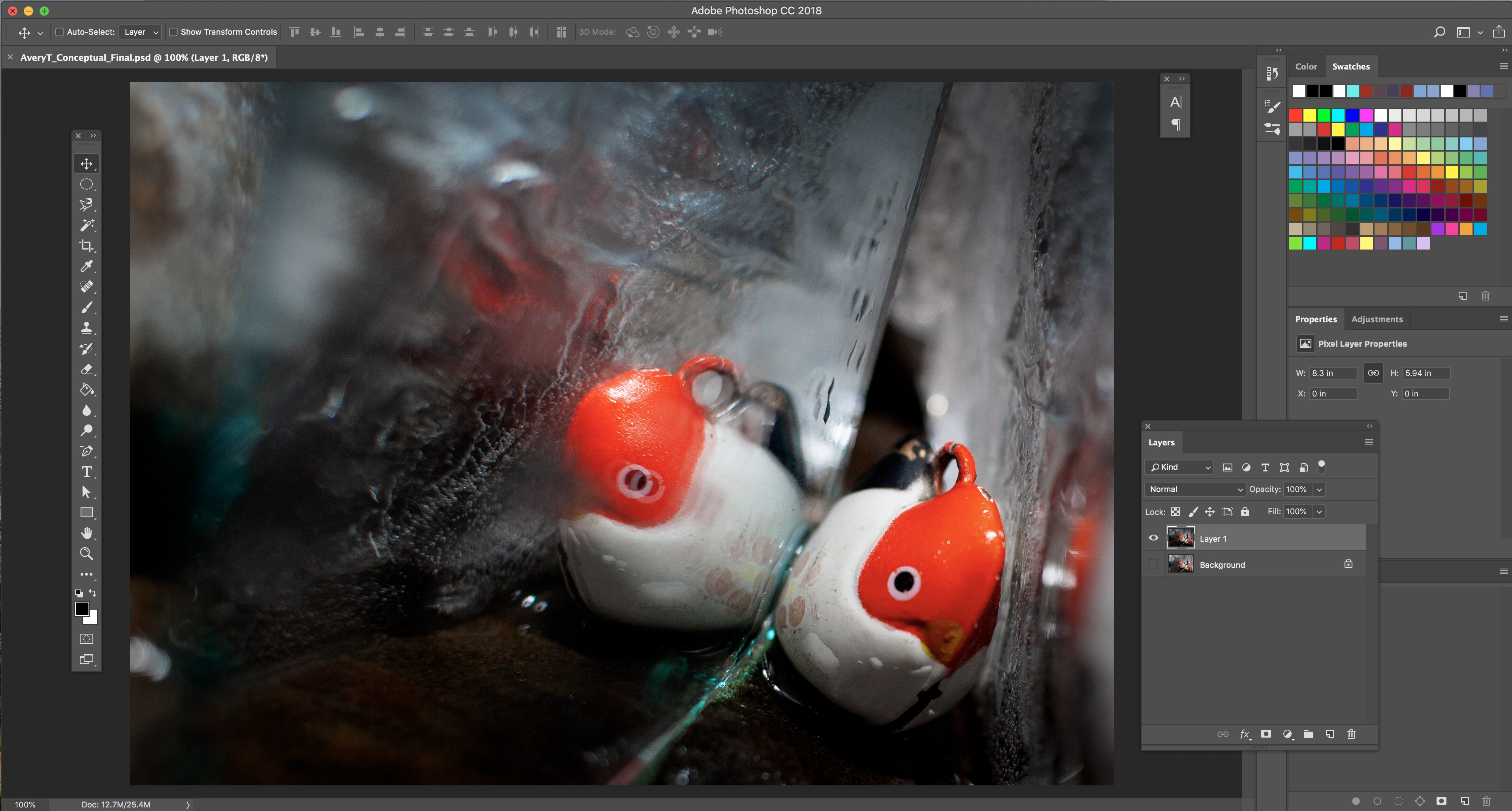 Photo of Adobe Photoshop Workspace for Conceptual photo