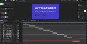 Screenshot of the After Effects workspace