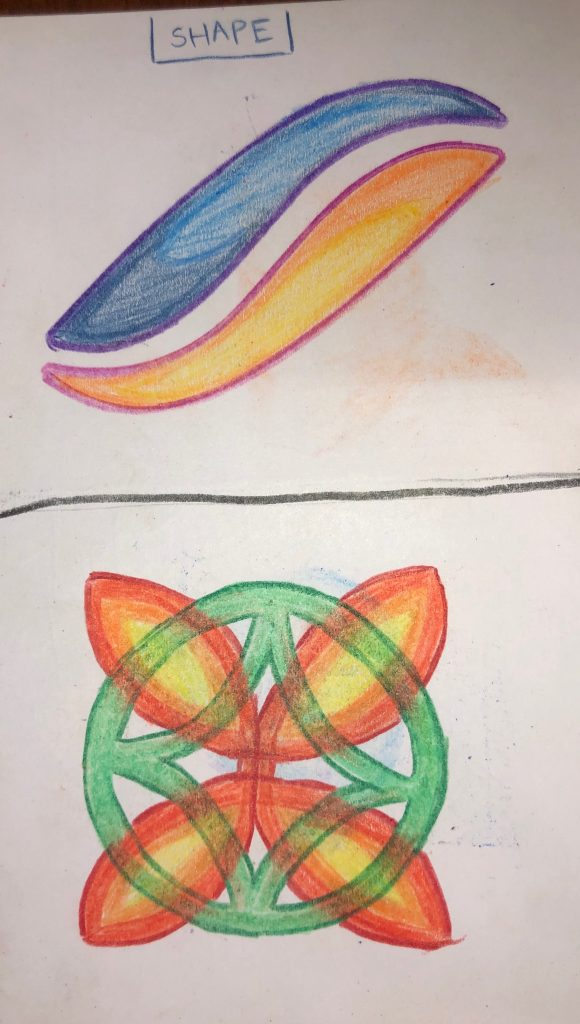 These are my drawings for shape