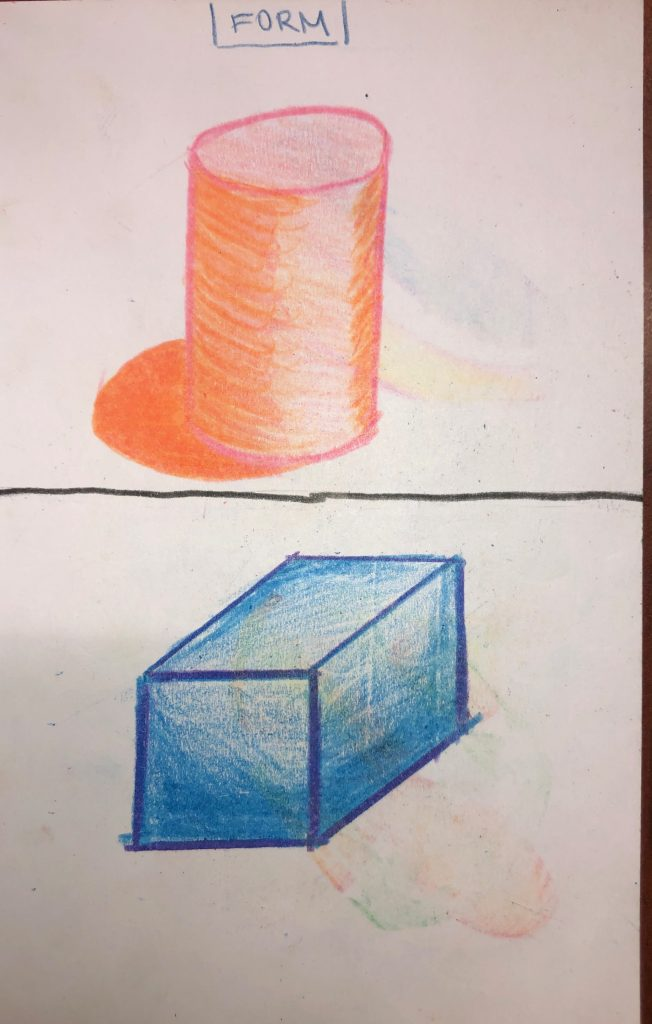 These are my drawings showcasing form