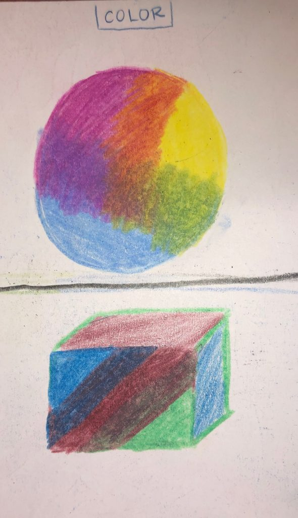 These are my drawings demonstrating color