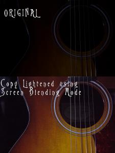 HannahH blending modes lighten screen blending