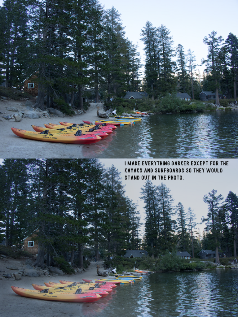 overlay and brush blend mode photo of Angora Lakes