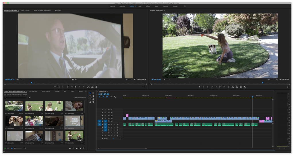 post production editing in Adobe Premiere Pro