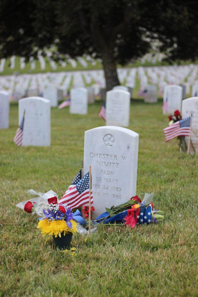 gravestone of Chester W. Nimitz, renowned World War II General