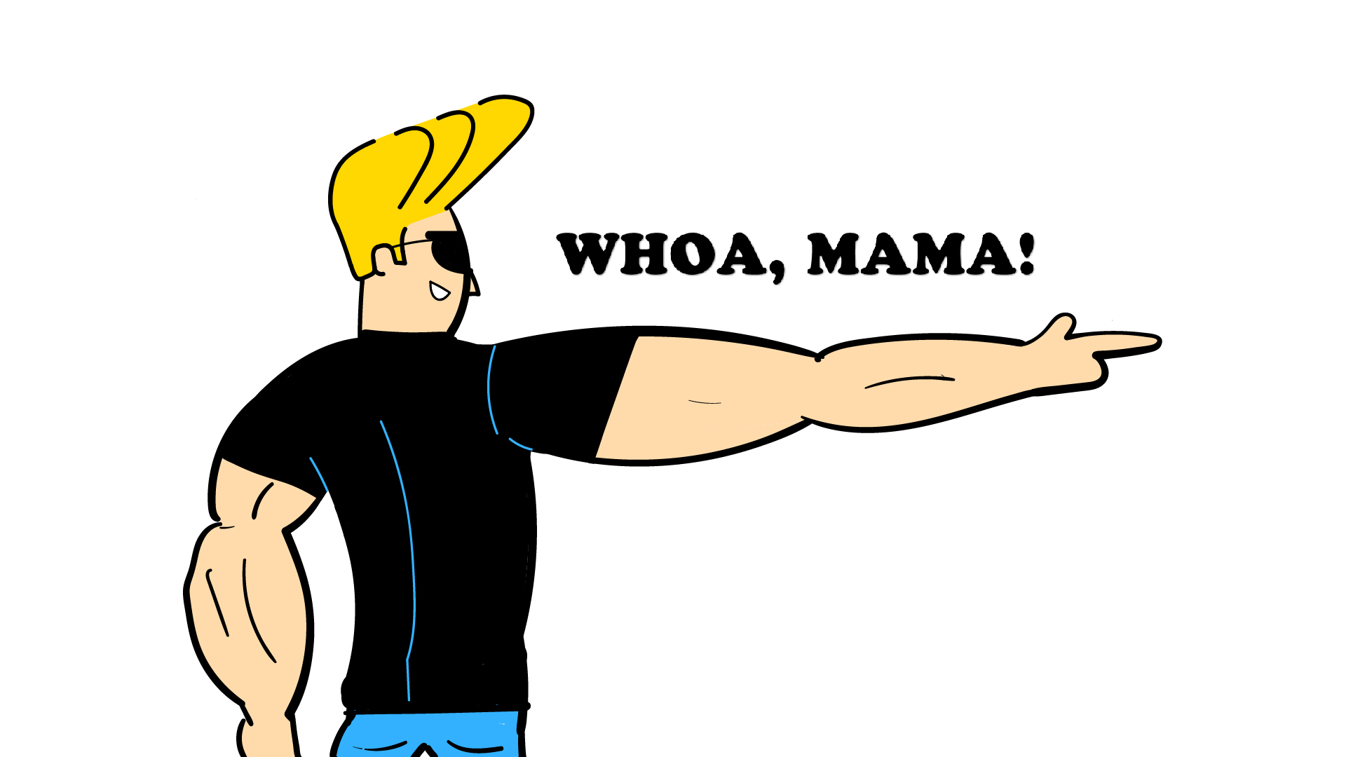 Image of drawn Johnny Bravo.