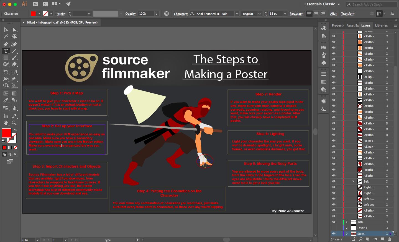 Image of Illustrator interface.