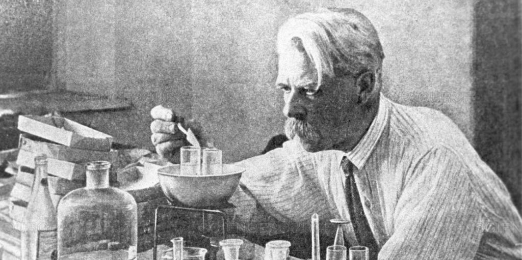 Image of man preforming science.