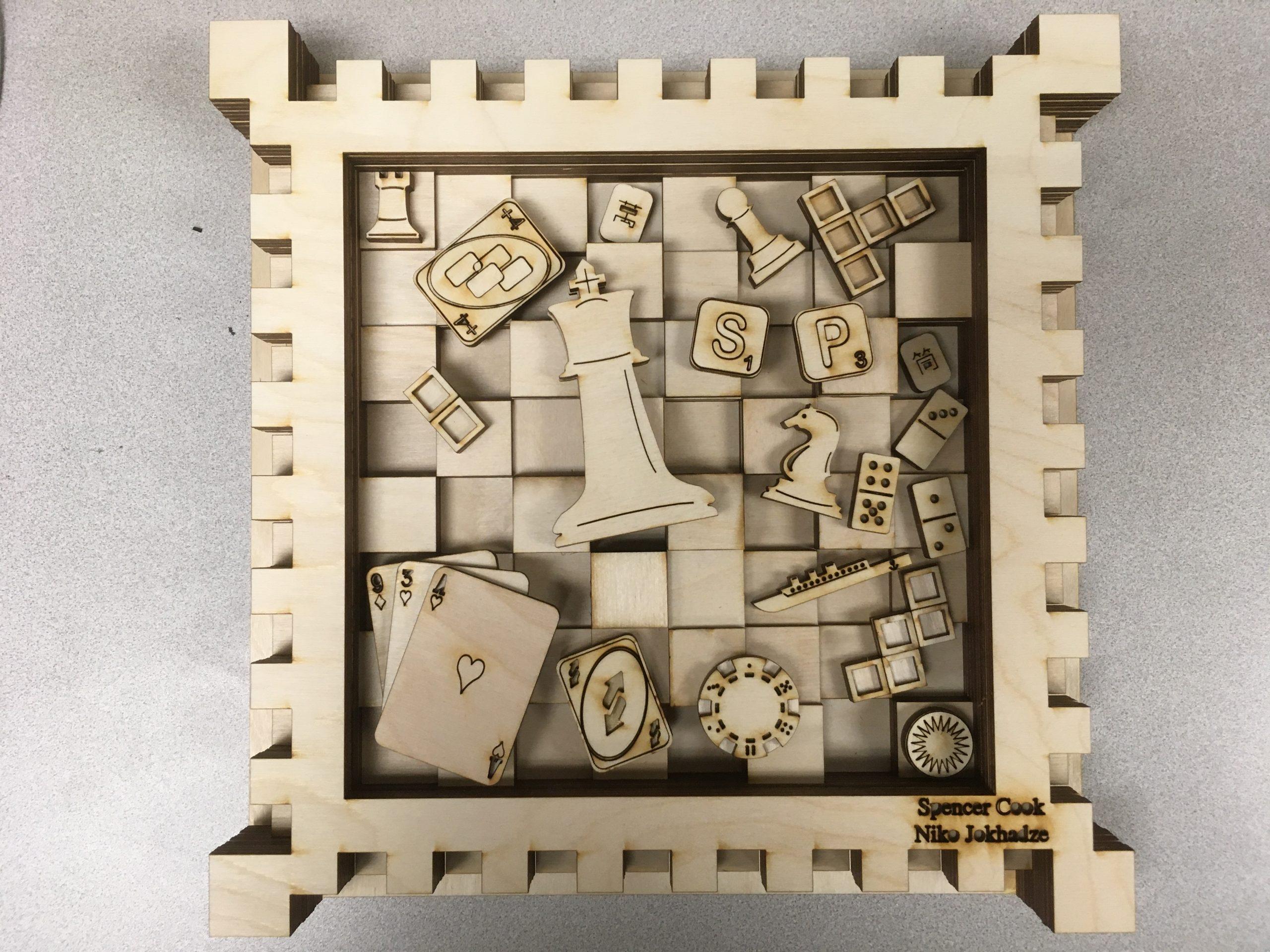 Image of final 3D wood art.
