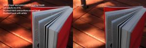 Juxtapose of Bird Eye Shot of Red Book