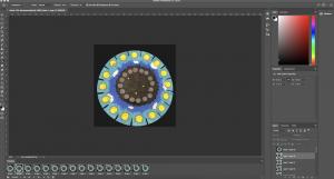 Screenshot of creating a phenakistoscope gif