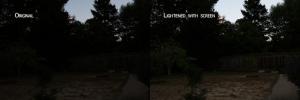 Juxtapose of Wide Shot of Backyard
