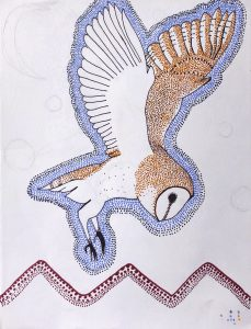 sharpie plan for aboriginal painting