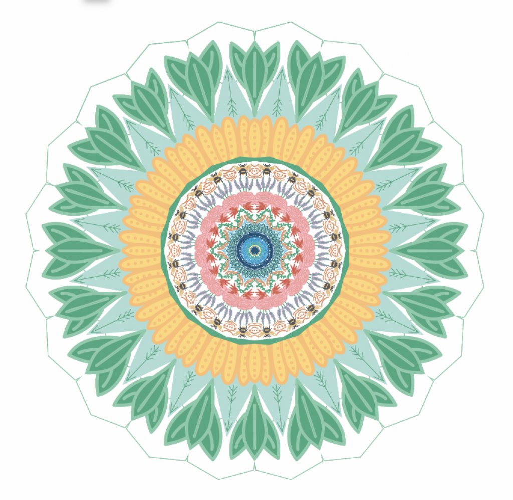 This is a photo of my colored mandala