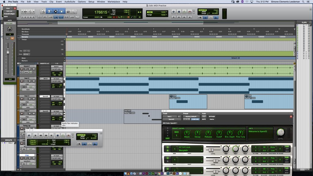 This is a screenshot of Pro Tools while I was in the process of creating this piece.