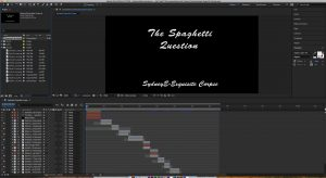 This is a screenshot of my after effects workspace, showing how I made the exquisite corpse video