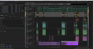 A screenshot of an adobe audition workspace that was used to create my short story