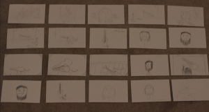 First 20 storyboard cards