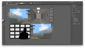 The image shows the Illustrator application and the banners within them.