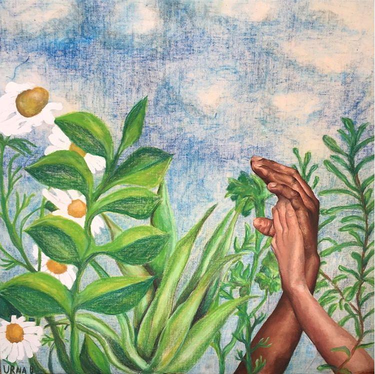 Mixed Media on cloth, for Juana Briones Exhibit